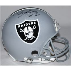 "Tim Brown Signed Raiders Full-Size Authentic Pro-Line Helmet Inscribed ""Heisman '87""  ""HOF 2015"" Lim"