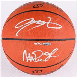 Magic Johnson  LeBron James Signed LE Official NBA Game Ball (UDA COA)