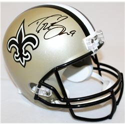 Drew Brees Signed Saints Full-Size Helmet (JSA COA  Brees Hologram)