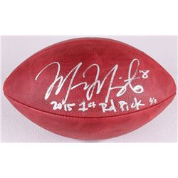 "Marcus Mariota Signed Official NFL Game Ball Inscribed ""2015 1st Rd Pick"" Limited Edition #8/8 (Stei"