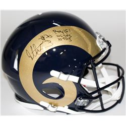 """Todd Gurley Signed Rams Full-Size Authentic Pro-Line Speed Helmet Inscribed """"ROY 15,"""" """"1106 Yds,""""  """""""