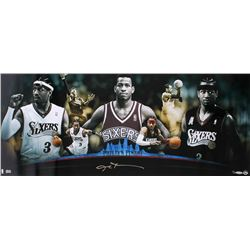 """Allen Iverson Signed LE """"Philly's Finest"""" 76ers 15x36 Photo (UDA COA)"""