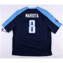 """Marcus Mariota Signed LE Titans Nike Authentic On-Field Jersey Inscribed """"15 1st Rd Pick"""" (UDA COA)"""