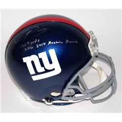 "Odell Beckham Jr. Signed Giants Full-Size Authentic Pro-Line Helmet Inscribed ""1305 Yds 2014 NYG Roo"