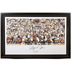"Michael Jordan Signed Bulls ""98 Last Shot vs. Jazz"" 22x36 Custom Framed Photo (UDA COA)"