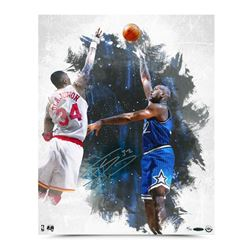 "Shaquille O'Neal Signed ""Baby Hook"" 16x20 Photo (UDA COA)"