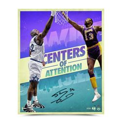 "Shaquille O'Neal Signed ""Centers of Attention"" 20x24 Photo (UDA COA)"