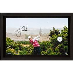 "Tiger Woods Signed ""10th Tee Breaking Through"" LE 12x20 Custom Framed Photo Display (UDA COA)"