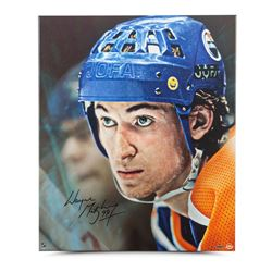 "Wayne Gretzky Signed Oilers ""Up Close  Personal"" 20x24 Canvas (UDA COA)"