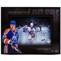 "Wayne Gretzky Signed Oilers ""Center Ice"" 16x20 Shadow Box Display (UDA COA)"