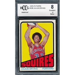 1972-73 Topps #255 Julius Erving All-Star RC (BCCG 8)