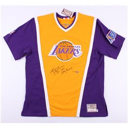 "Kobe Bryant Signed LE Lakers Authentic Mitchell  Ness Shooting Shirt Inscribed ""97 Dunk Champ"" (Pani"