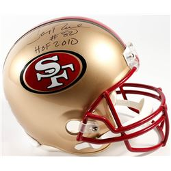 "Jerry Rice Signed 49ers Throwback Full-Size Helmet Inscribed ""HOF 2010"" (Radtke COA  Rice Hologram)"