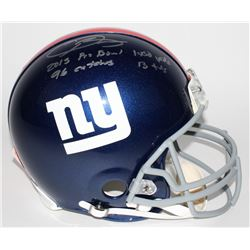 Odell Beckham Jr. Signed LE Giants Full-Size Authentic Pro-Line Helmet with (4) Rookie Record Inscri