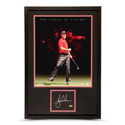 "Tiger Woods Signed ""Thrill of Victory"" LE 20x30 Custom Framed Photo Display (UDA COA)"