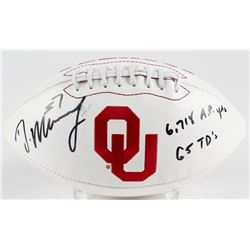 """DeMarco Murray Signed Oklahoma Sooners Logo Football Inscribed """"6,718 A.P. Yards""""  """"65 TD's"""" (Murray"""