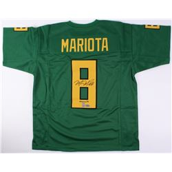 "Marcus Mariota Signed Oregon Ducks Jersey Inscribed ""Heisman '14"" (Mariota Hologram  Radtke COA)"
