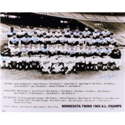 1965 Minnesota Twins A.L. Champs 16x20 Photo Team Signed by (22) with Sandy Valdespino, Johnny Klipp
