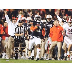 "Chris Davis Signed Auburn 24x32 Photo on Canvas Inscribed ""109 Yard Touchdown,"" ""Kick Six""  ""Game Ov"