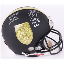 "Brett Favre  Peyton Manning Dual-Signed LE ""70K Passing Yards  500 Passing Touchdowns Club"" Custom M"