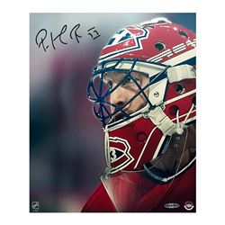 "Patrick Roy Signed Canadiens ""Up Close  Personal"" 20x24 Photo on Canvas (UDA COA)"