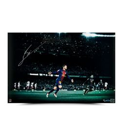 "Lionel Messi Signed ""Colors of the Game"" 16"" x 24"" Photo LE 50 (UDA COA)"