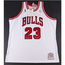 Michael Jordan Signed Limited Edition Bulls Authentic Mitchell  Ness Jersey #23/123 (UDA COA)
