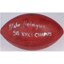 """Mike Holmgren Signed Official NFL Game Ball Inscribed """"SB XXXI Champs"""" (Radtke COA)"""