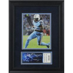 "Derrick Henry Signed Titans 16""x21"" Custom Framed Ticket Display Inscribed ""Ticket To My First TD"" ("