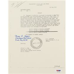 "Morris R. Jeppson Signed 8.5x11 Personal Orders Document Inscribed ""Electronics Test Officer""  ""Enol"
