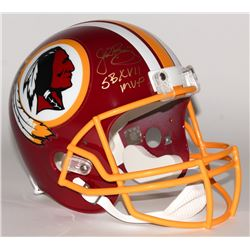 "John Riggins Signed Redskins Full-Size Helmet Inscribed ""SBXVII MVP"" (JSA COA)"