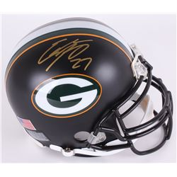 Eddie Lacy Signed Packers Custom Matte Black Authentic Pro-Line Full-Size Helmet (Lacy Hologram)