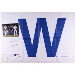 Lot of (2) Justin Grimm Signed Cubs Items with (1) 8x10 Photo  (1) 27x39 Flag (Schwartz COA)