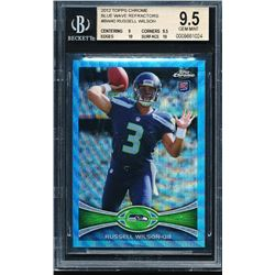 2012 Topps Chrome Blue Wave Refractors #BW40 Russell Wilson (BGS 9.5)