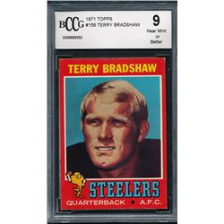 1971 Topps #156 Terry Bradshaw RC (BCCG 9)