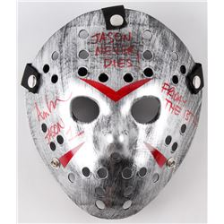 "Ari Lehman Signed Jason ""Friday the 13th"" Metallic Silver Custom Hockey Mask Inscribed ""Jason 1"", ""F"