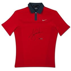Tiger Woods Signed LE 2013 Sunday Red Polo Shirt (UDA COA)