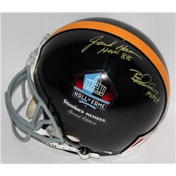 "Jack Ham  Rod Woodson Signed Steelers ""Hall of Fame"" Full-Size Authentic Pro-Line Helmet Inscribed """