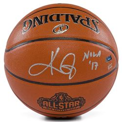 "Kyrie Irving Signed LE 2017 NBA All-Star Game Basketball Inscribed ""NOLA '17"" (Panini COA)"