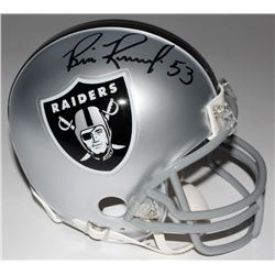 Bill Romanowski Signed Raiders Mini-Helmet (Radtke COA)