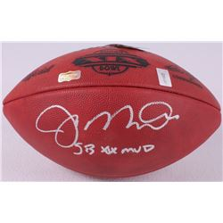 "Joe Montana Signed Super Bowl XIX Official Game Ball Inscribed ""SB XIX MVP"" (Radtke COA  Montana Hol"