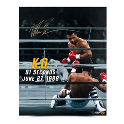 "Mike Tyson Signed ""91 Seconds"" LE 16x20 Photo (UDA COA)"
