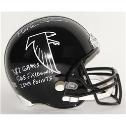 "Morten Andersen Signed Falcons Full-Size Helmet Inscribed ""382 Games"", ""565 Field Goals"",  ""2544 Poi"