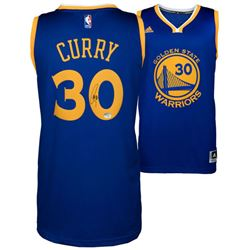 Stephen Curry Signed Warriors Authentic Adidas Swingman Jersey (Fanatics)