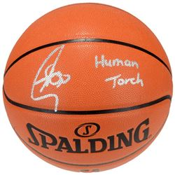 "Stephen Curry Signed Basketball Inscribed ""Human Torch"" (Fanatics Hologram)"