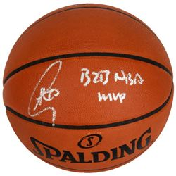 "Stephen Curry Signed Basketball Inscribed ""B2B NBA MVP"" (Fanatics Hologram)"