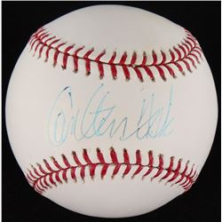 Carlton Fisk Signed OML Baseball (MLB Hologram)