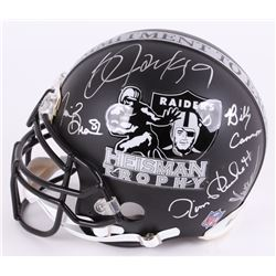 "Raiders Custom Matte Black ""Heisman Trophy"" Full-Size Authentic Pro-Line Helmet Signed by (5) Includ"
