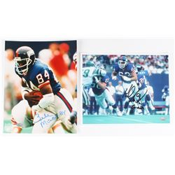 "Lot of (2) 8x10 Photos Signed by Zeke Mowatt  Karl Nelson Inscribed ""Giants"" (FSC COA)"