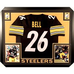 "Le'Veon Bell Signed Steelers 35"" x 43"" Custom Framed Jersey (JSA COA)"